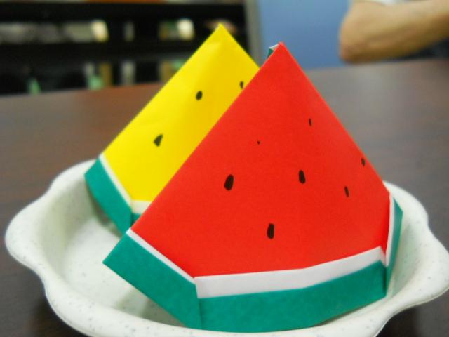 可愛い♡夏のフルーツ&野菜を折り紙で作ろう♪