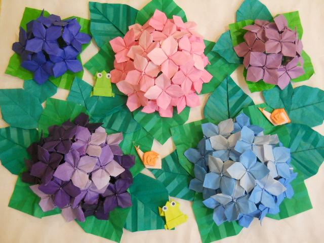 花 折り紙 紫陽花 折り紙 : divulgando.net
